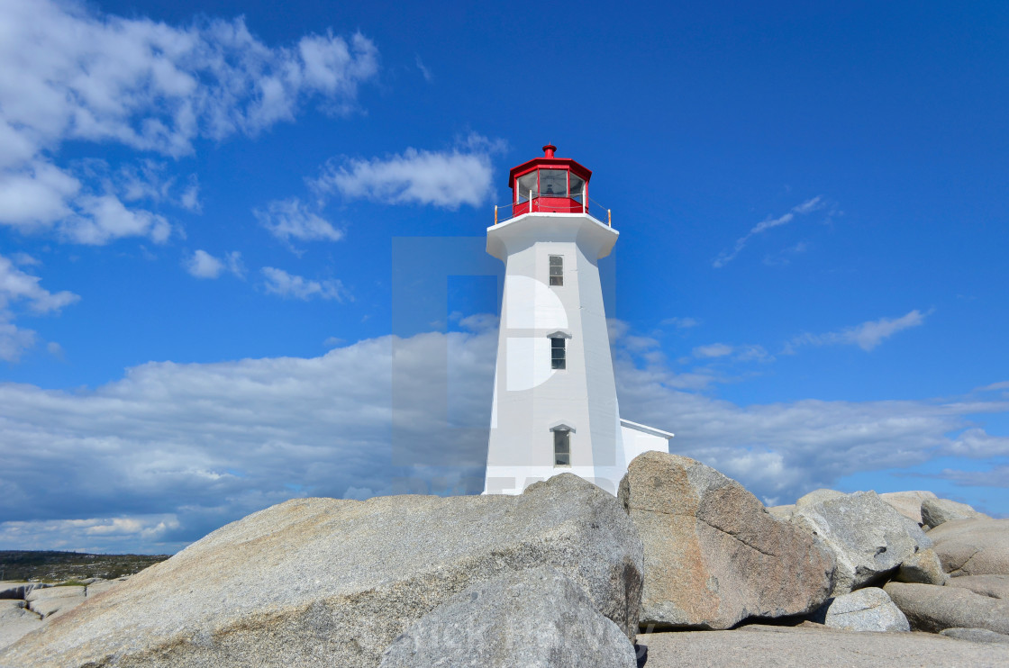 """Peggy's Cove Lighthouse"" stock image"