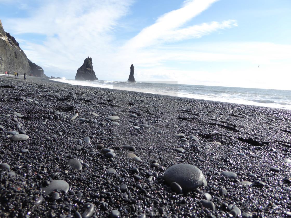 """Black Sand Beach, Iceland"" stock image"