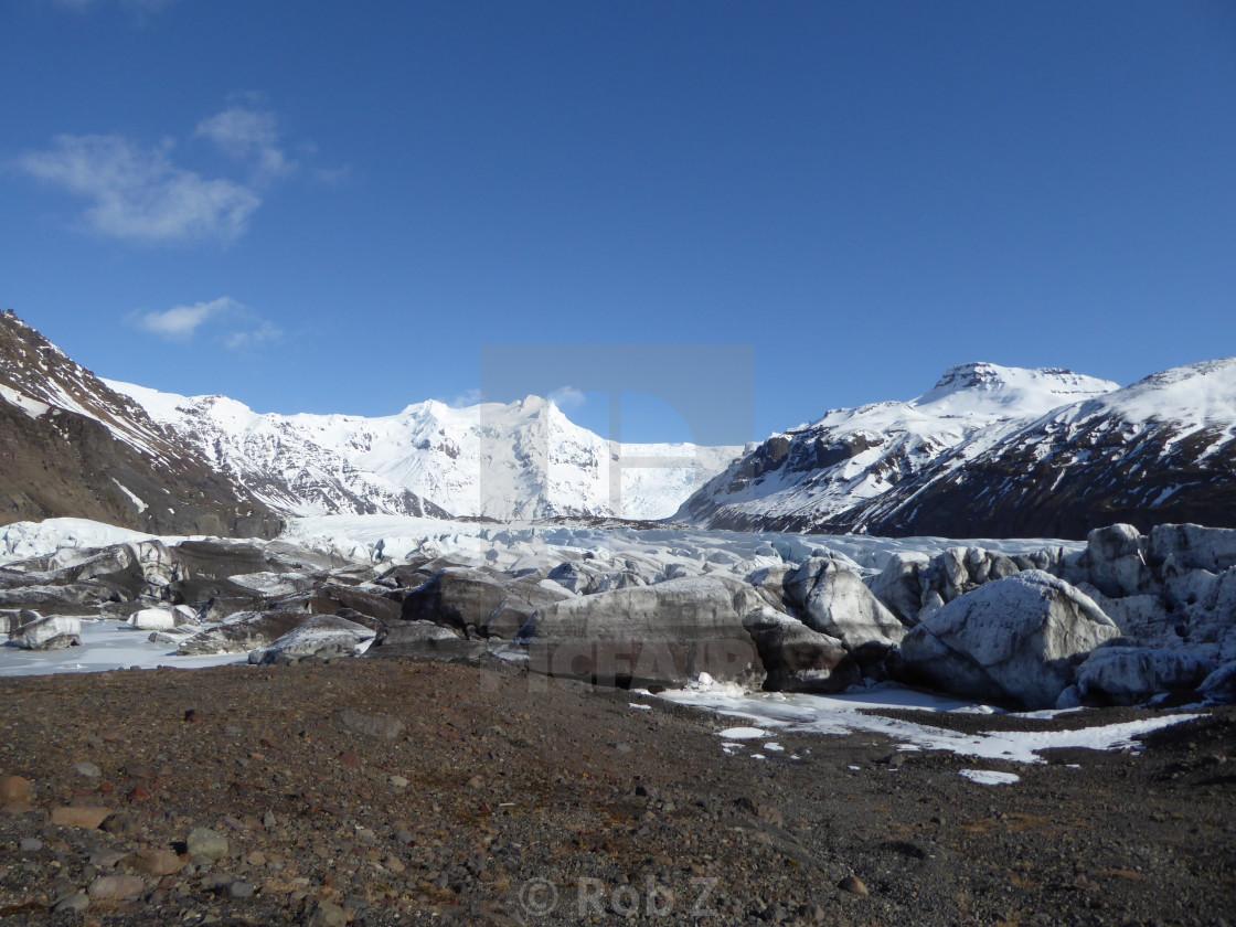 """""""Glacier in Iceland"""" stock image"""