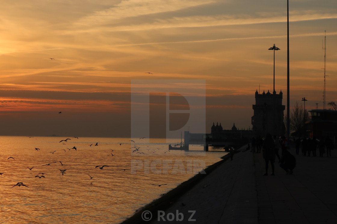 """Belem at Sunset"" stock image"