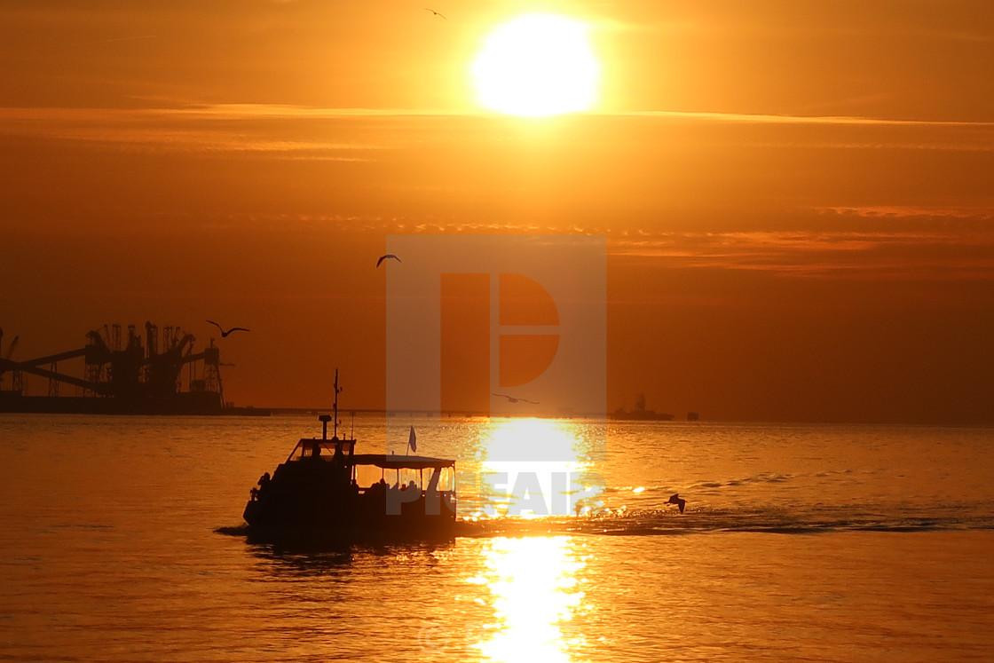 """""""Boat in Portugal"""" stock image"""
