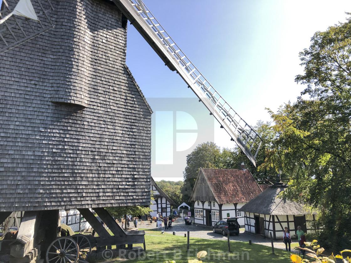 """windmill in Bielefeld Farmhouse Museum"" stock image"