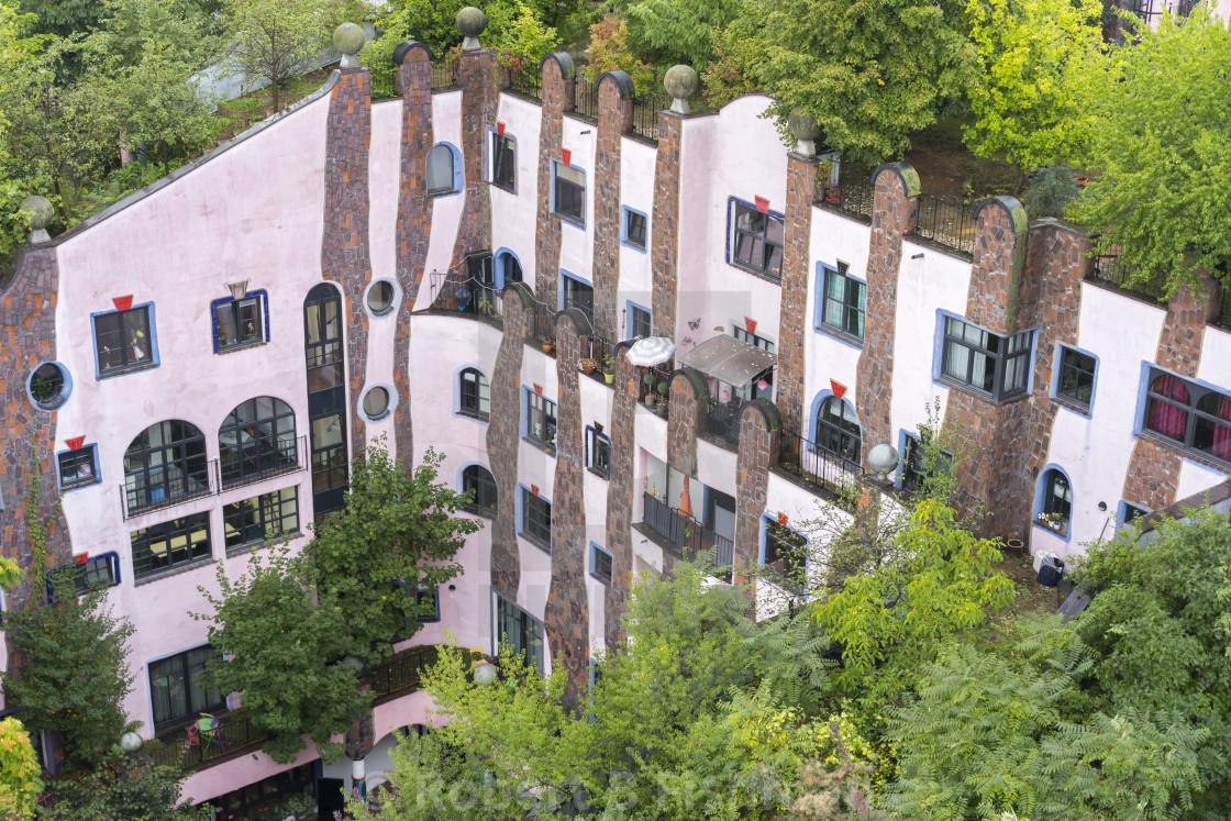 """Green Citadel by Friedensreich Hundertwasser"" stock image"