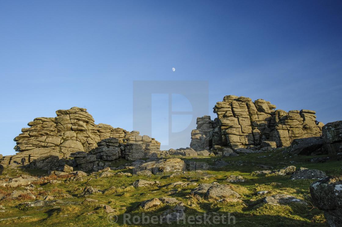 """Hound Tor, Dartmoor, Devon"" stock image"