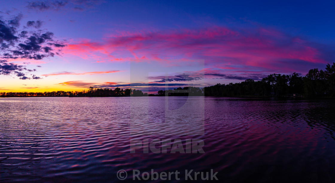 """Purple sunset"" stock image"
