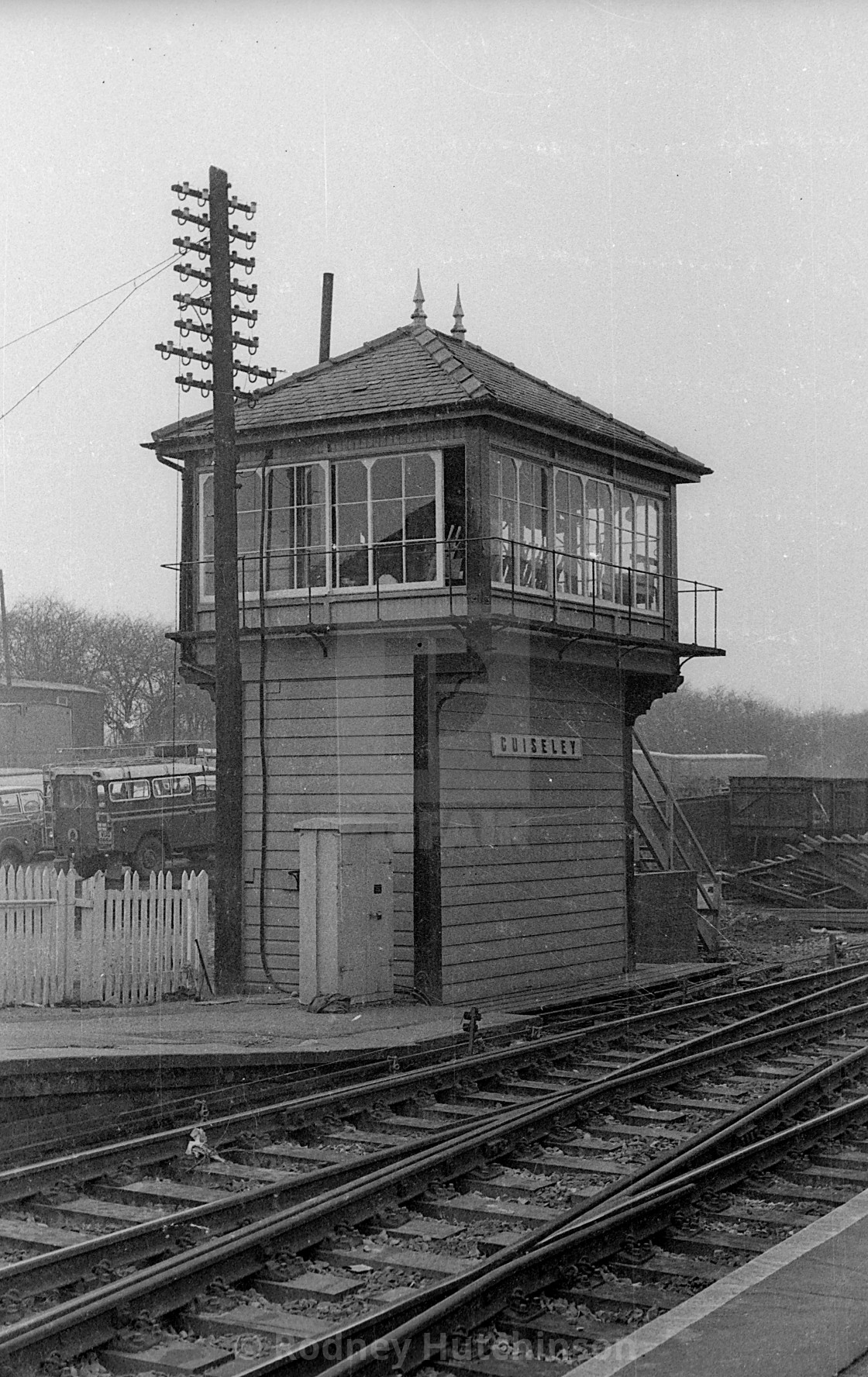 """Guiseley Station Signalbox"" stock image"