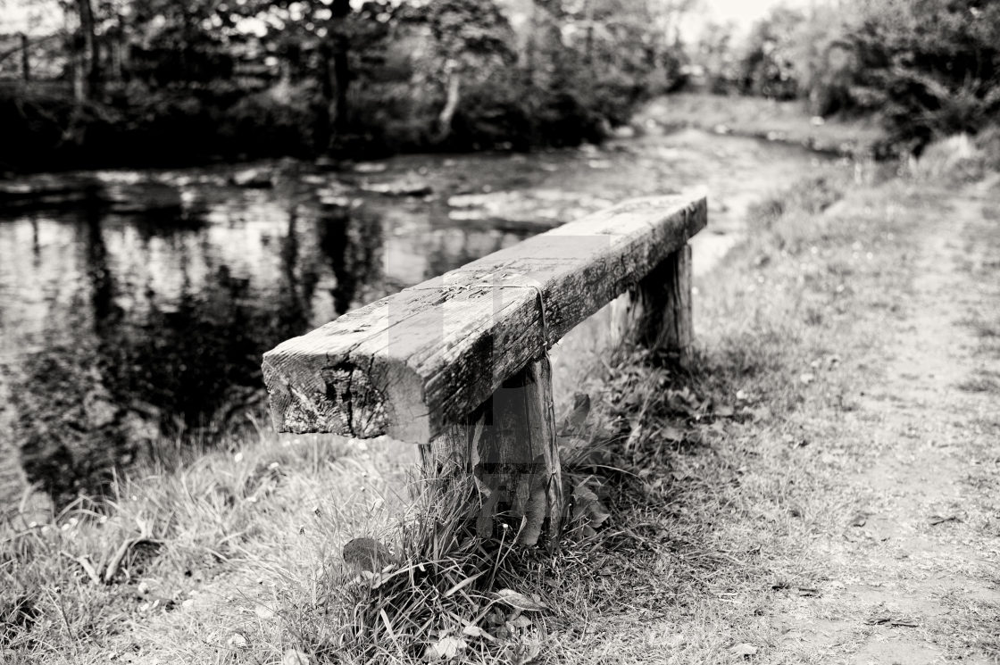 """Wooden Bench"" stock image"