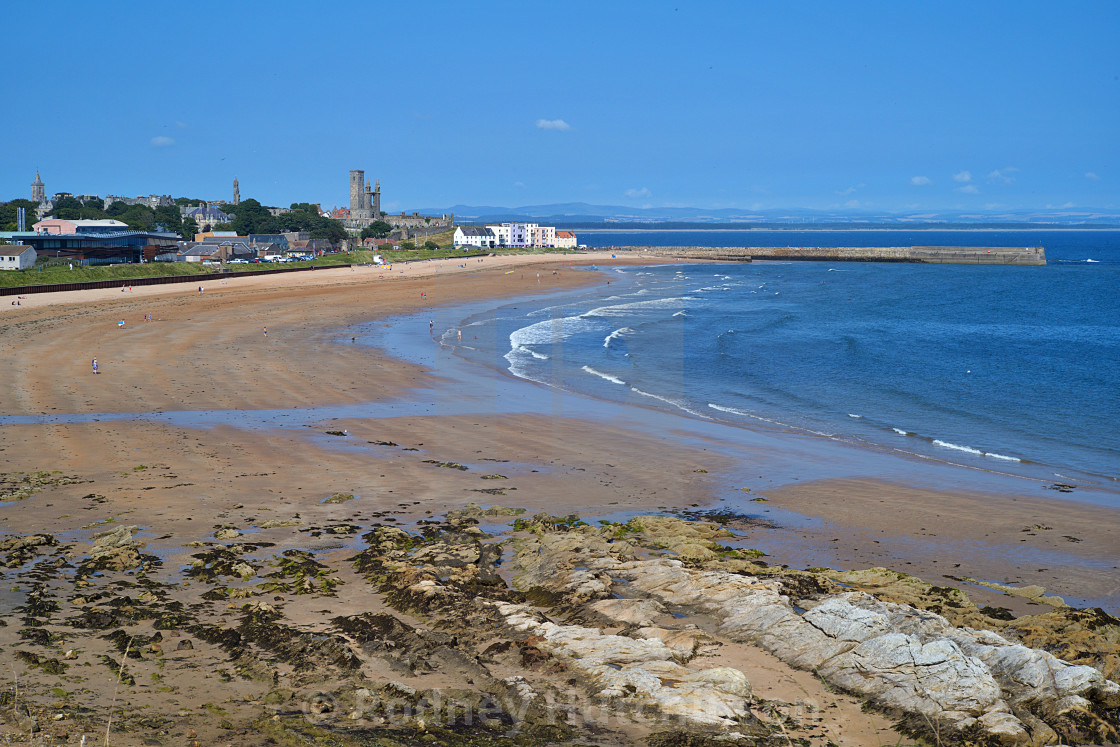 """St Andrews Beach"" stock image"