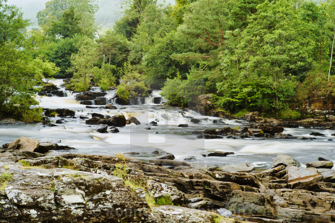 """Falls of Dochart"" stock image"