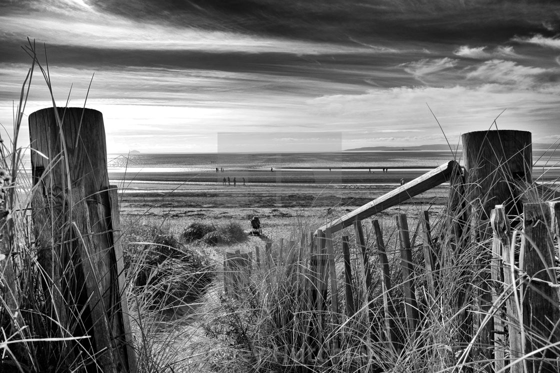 """Troon Beach"" stock image"