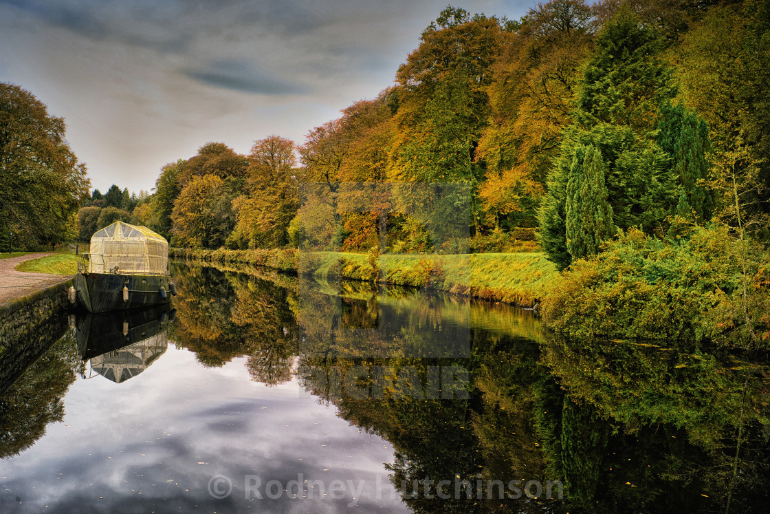 """Autumn on the Crinan Canal"" stock image"