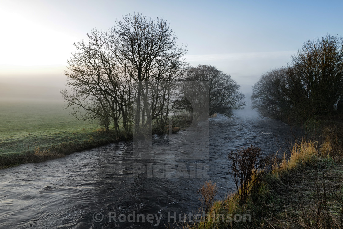 """Early winters morning on the River Doon"" stock image"