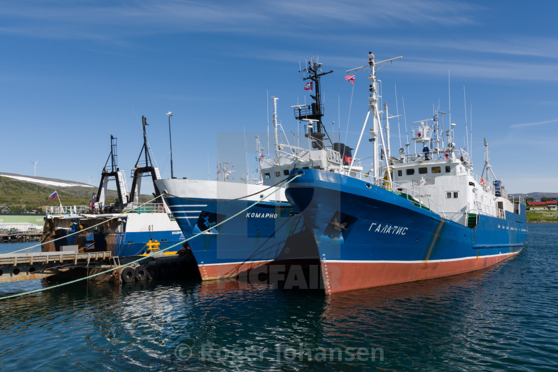 """""""Russian fishing wessels"""" stock image"""