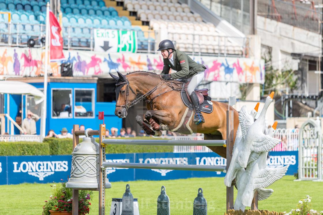 """Dublin Horse Show 2018"" stock image"