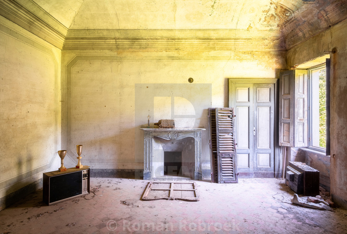 """""""Room in Abandoned House"""" stock image"""