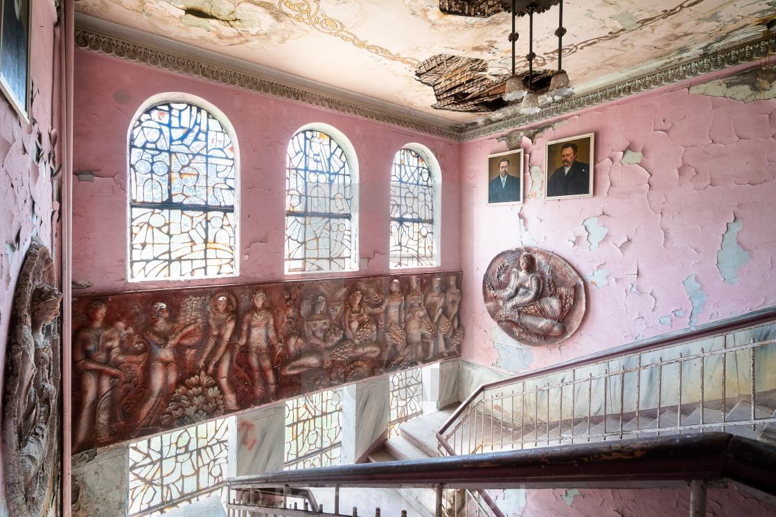 """Abandoned Georgian Staircase"" stock image"