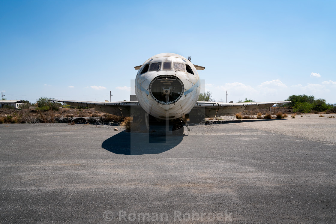 """Nicosia International Airport Airplane"" stock image"