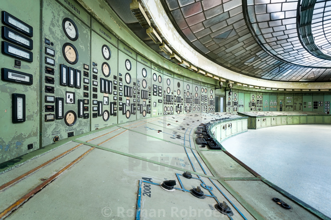 """Kelenfold Abandoned Control Room"" stock image"