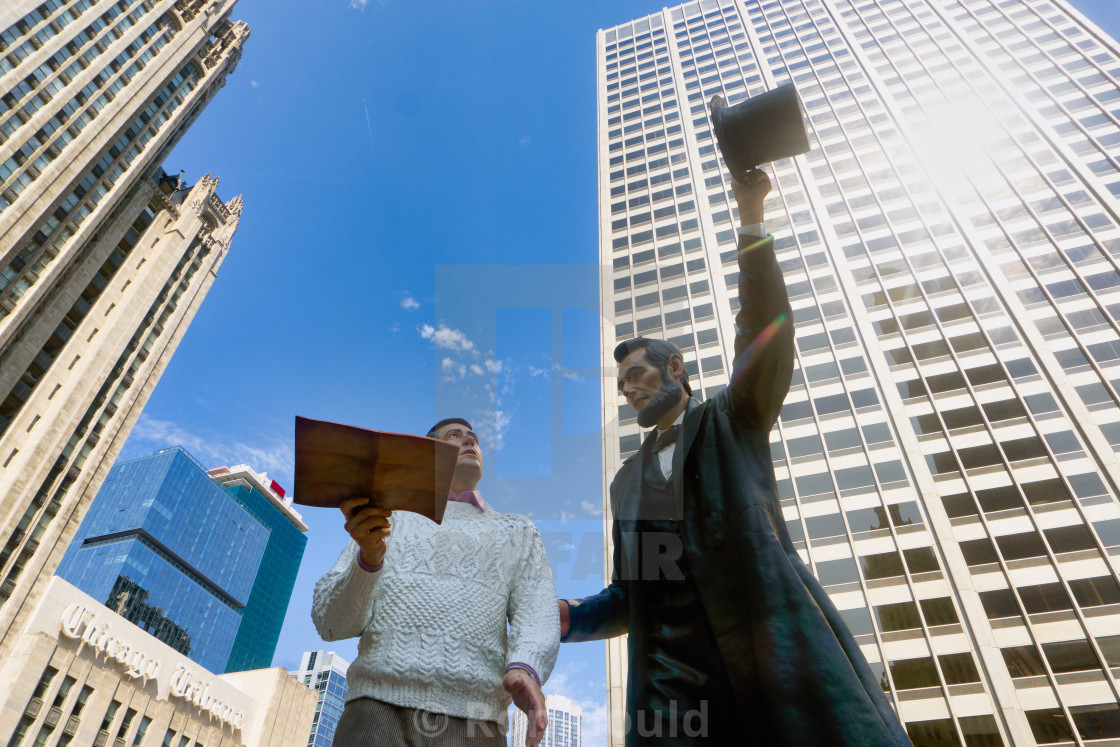 """Abe Lincoln, Chicago"" stock image"