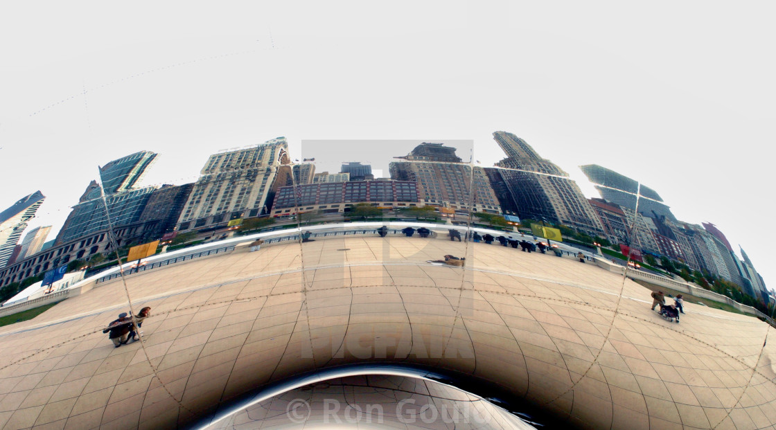 """""The Bean', Chicago"" stock image"