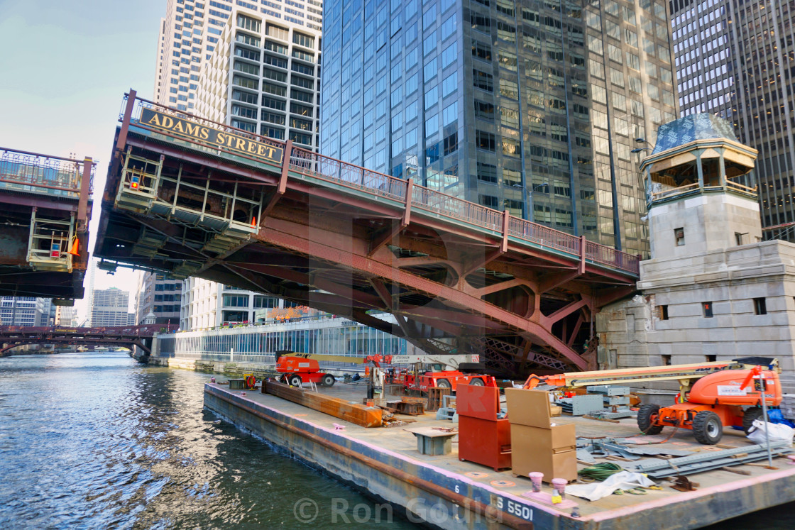 """Bridge repair Chicago"" stock image"