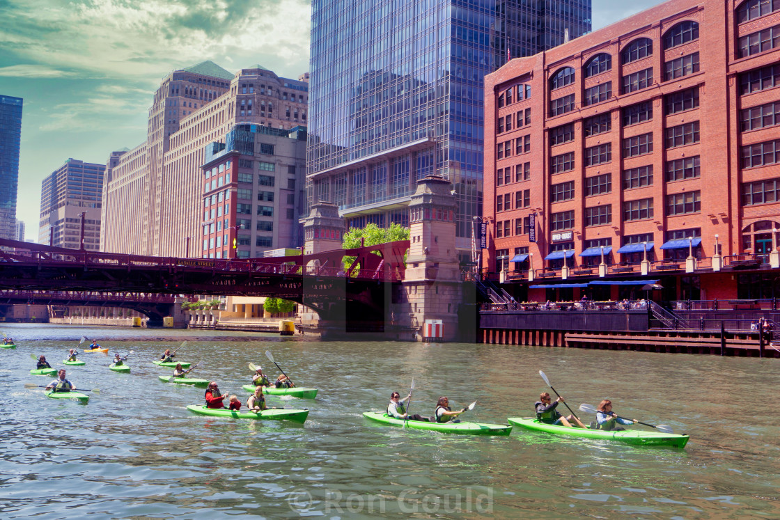 """Chicago River"" stock image"
