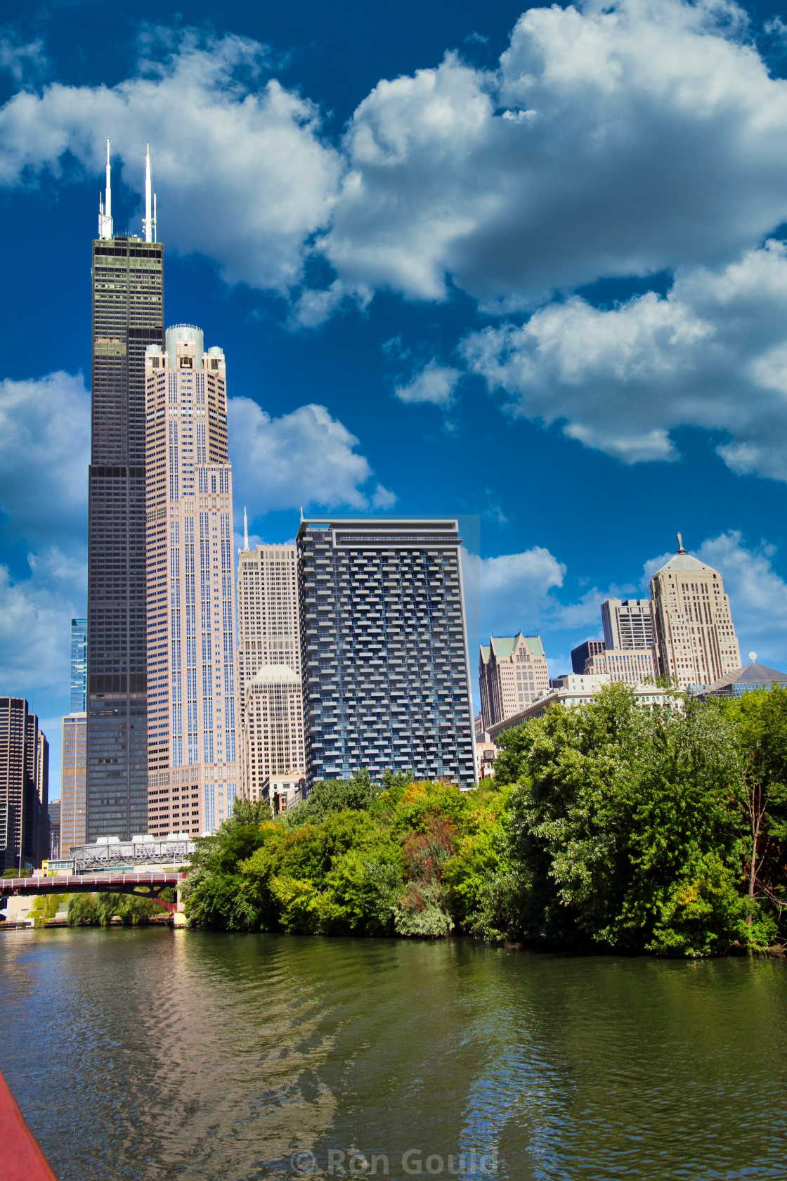 """""""Chicago Skyline from river"""" stock image"""