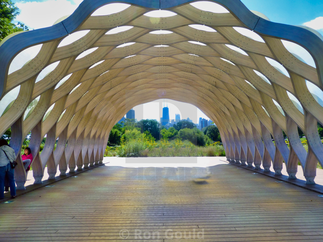 """Lincoln Park Gazebo"" stock image"