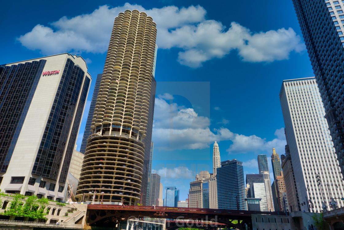 """""""Marina City & Westin Chicago"""" stock image"""