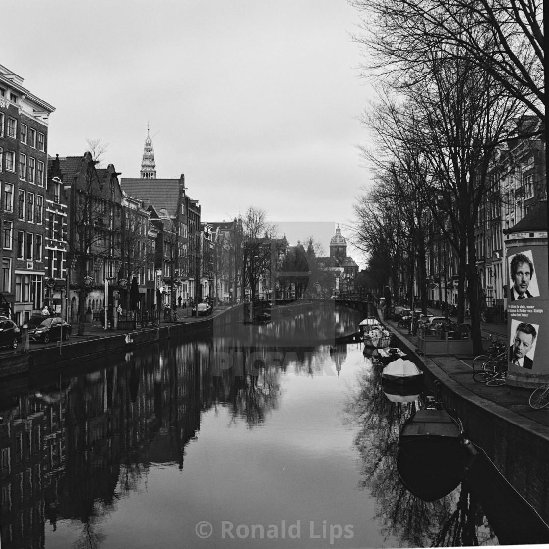 """Amsterdam, Oudezijds Achterburgwal"" stock image"