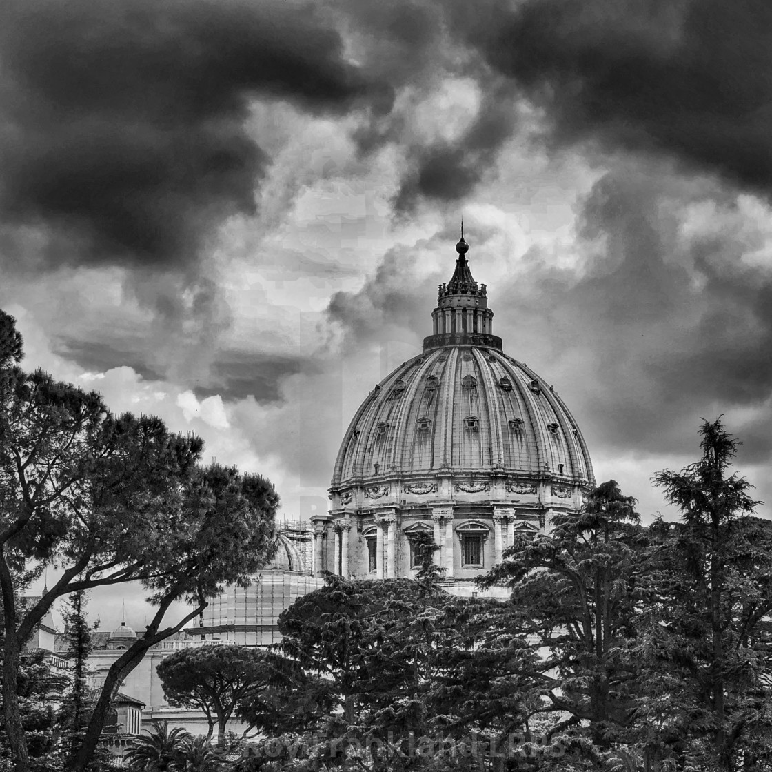 """St Peter's Basilica dome"" stock image"