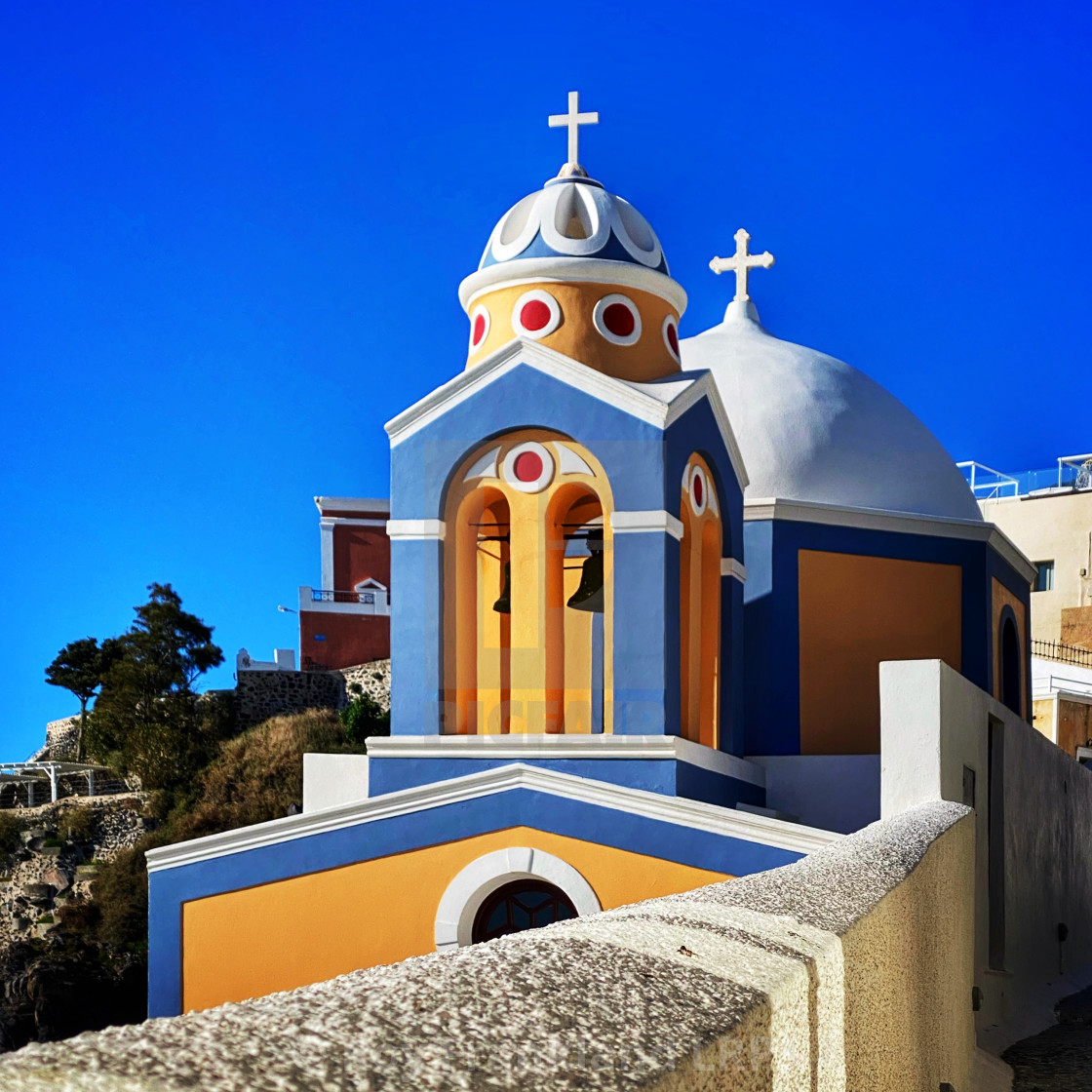 """Church of Saint Stylianos, Fira - colour"" stock image"