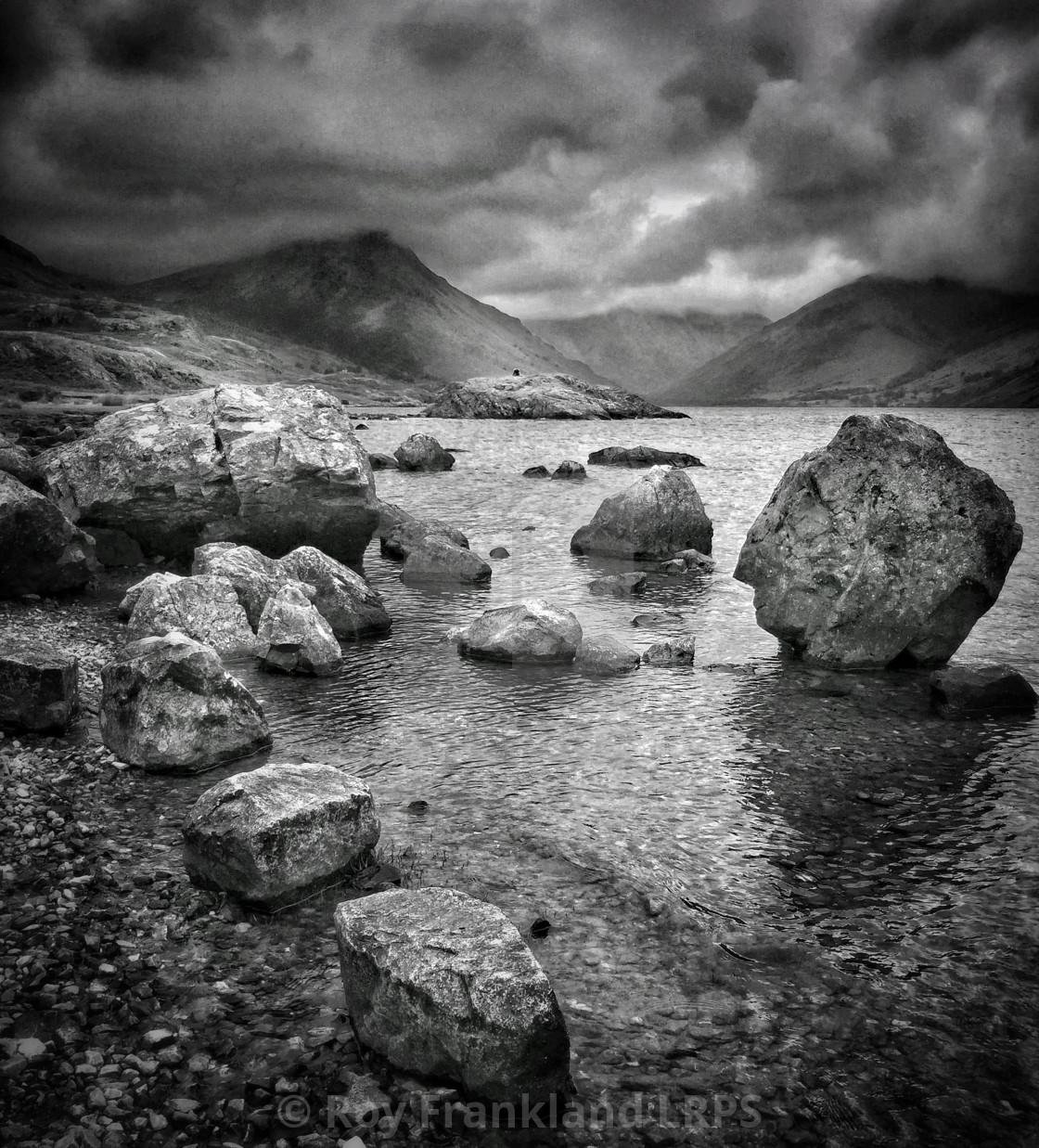 """""""Rocks at Wastwater lake, mono"""" stock image"""