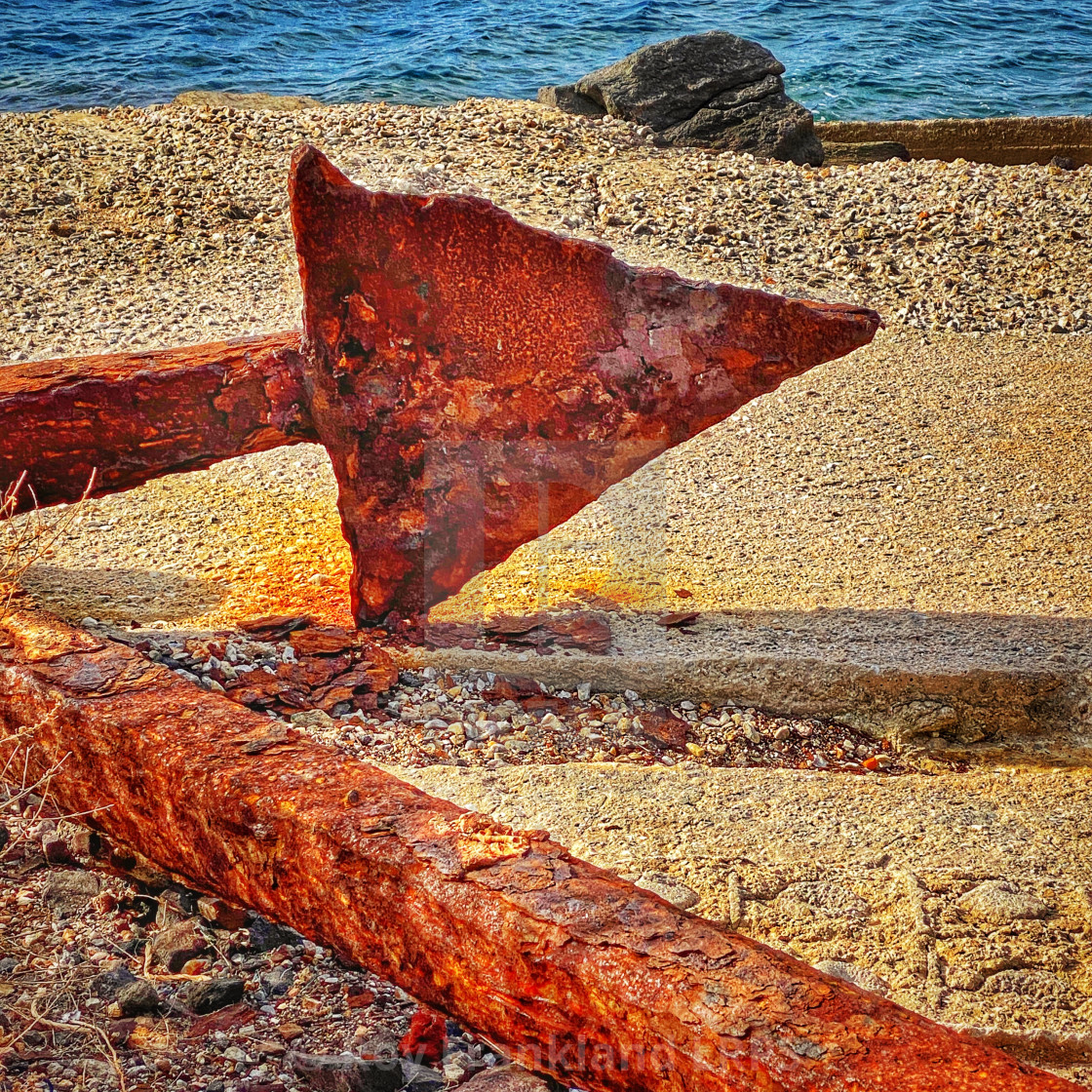 """""""Rusty Anchor point"""" stock image"""