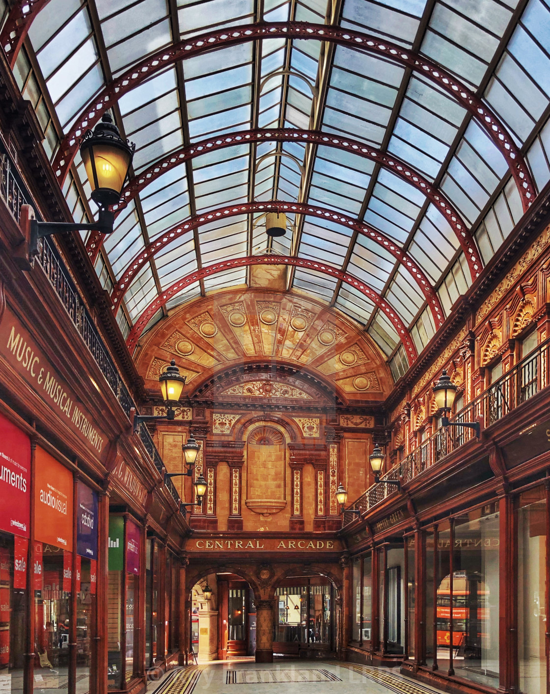 """Central Arcade, Newcastle"" stock image"