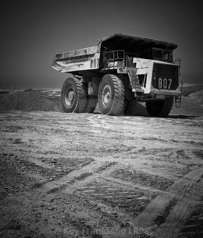 """Giant truck, mono"" stock image"