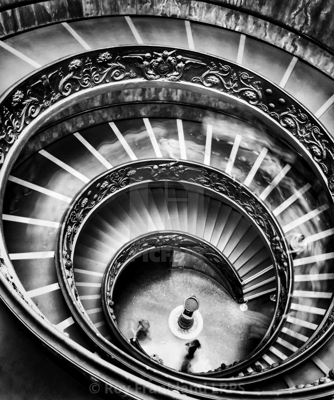 """""""Ghosts on the stairs, mono"""" stock image"""