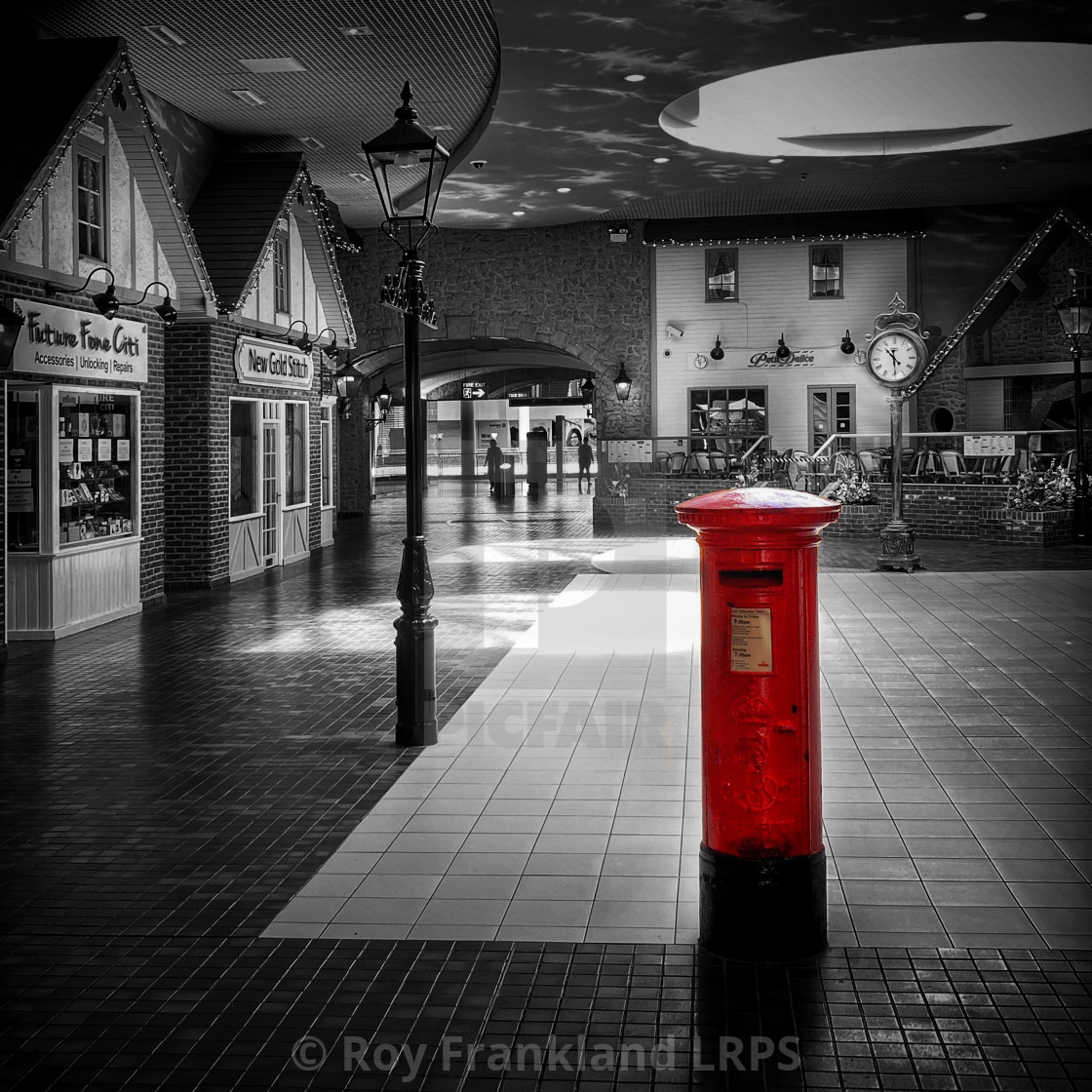 """Red post box"" stock image"