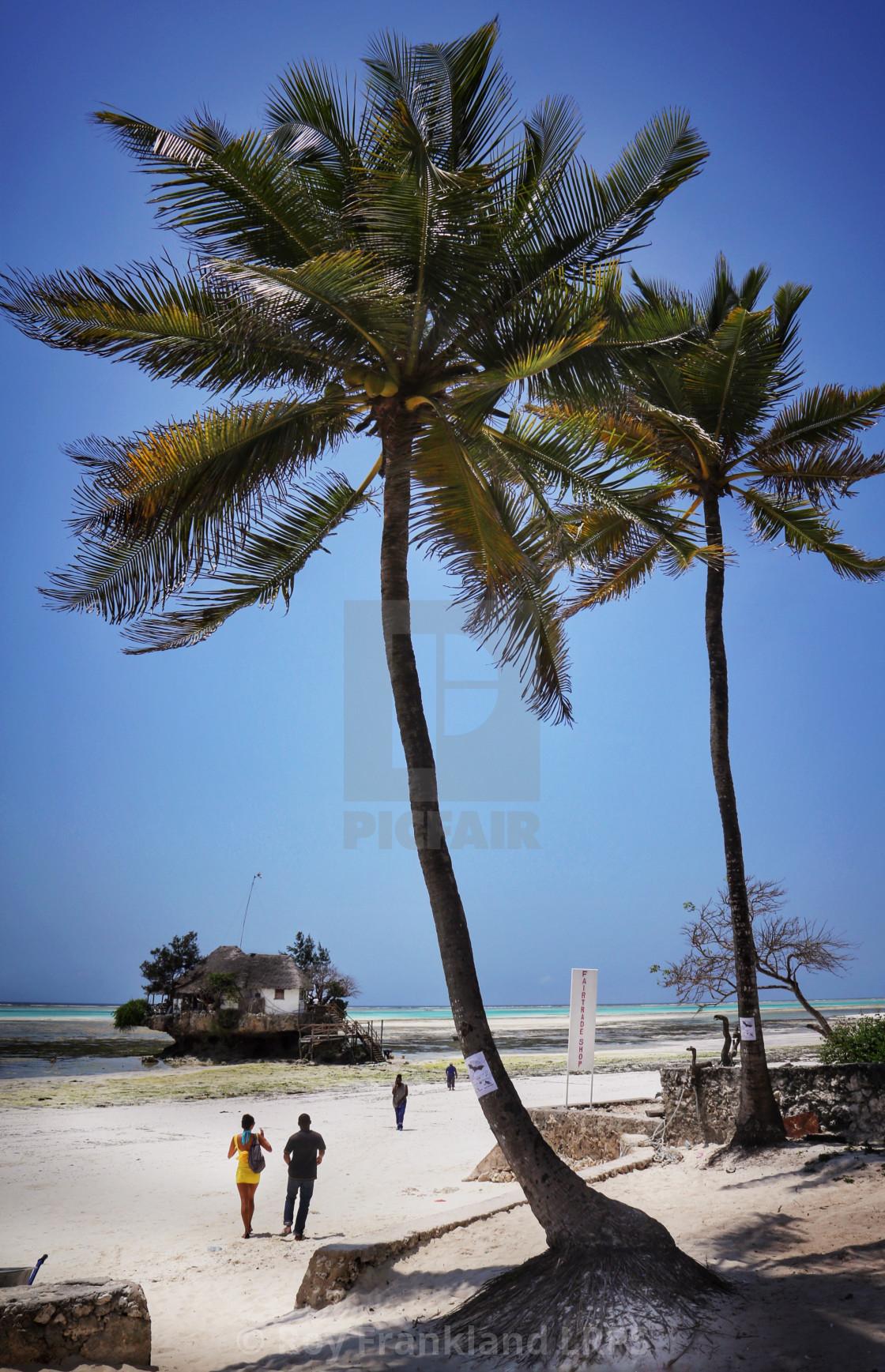 """The Rock restaurant, Zanzibar"" stock image"