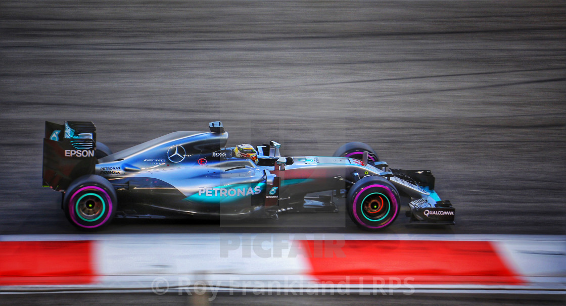 """Lewis Hamilton at the Abu Dhabi GP"" stock image"
