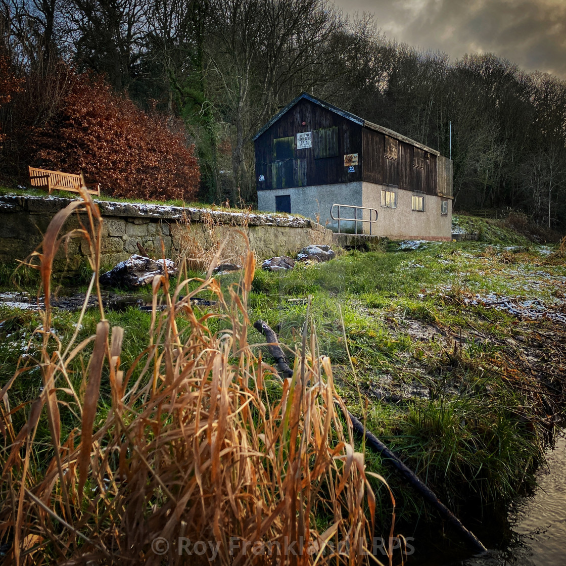 """Ebchester boat house"" stock image"