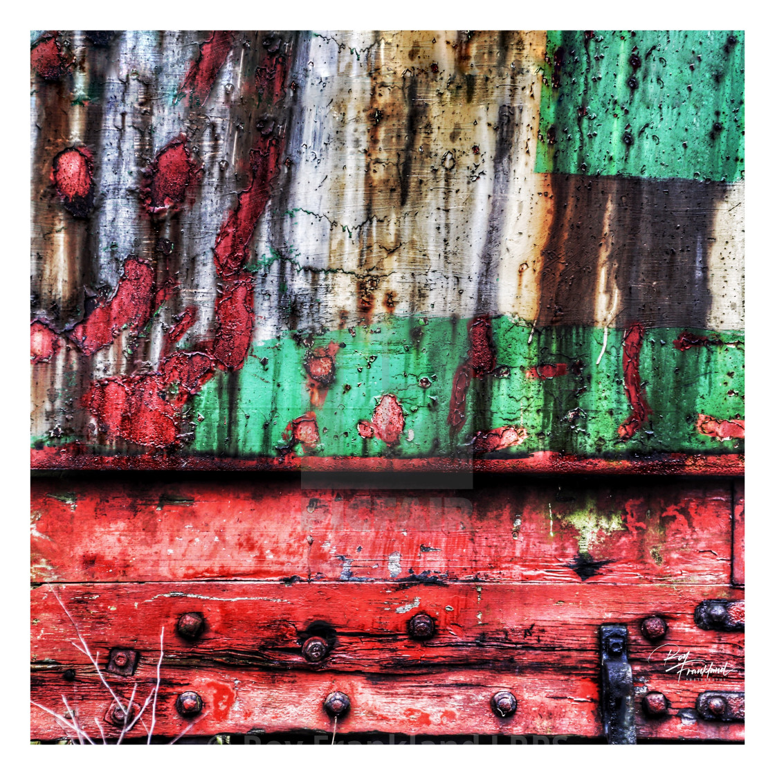"""Red, green and rust"" stock image"
