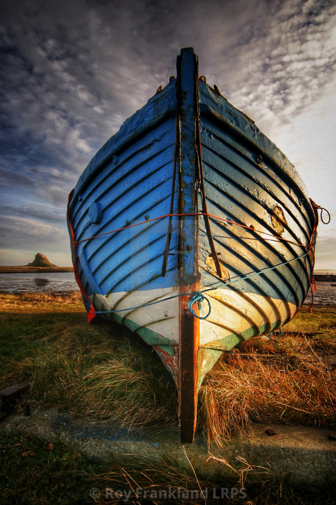 """The Katie Colombo on Lindisfarne island"" stock image"