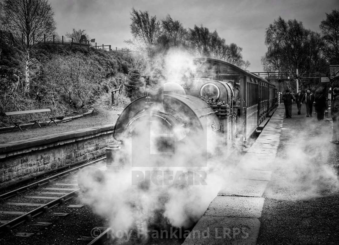 """Steam train, mono"" stock image"