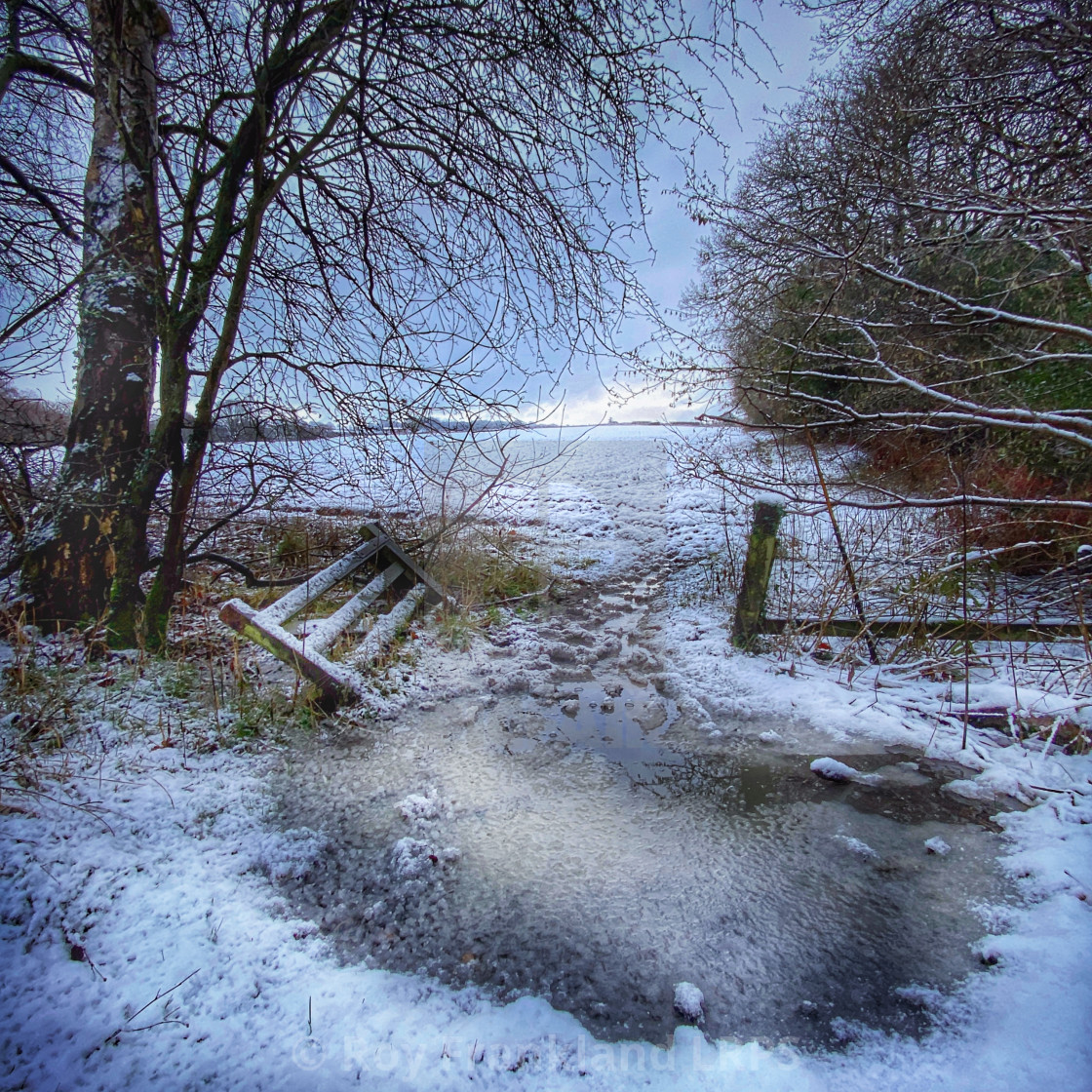 """Broken gate in the ice"" stock image"