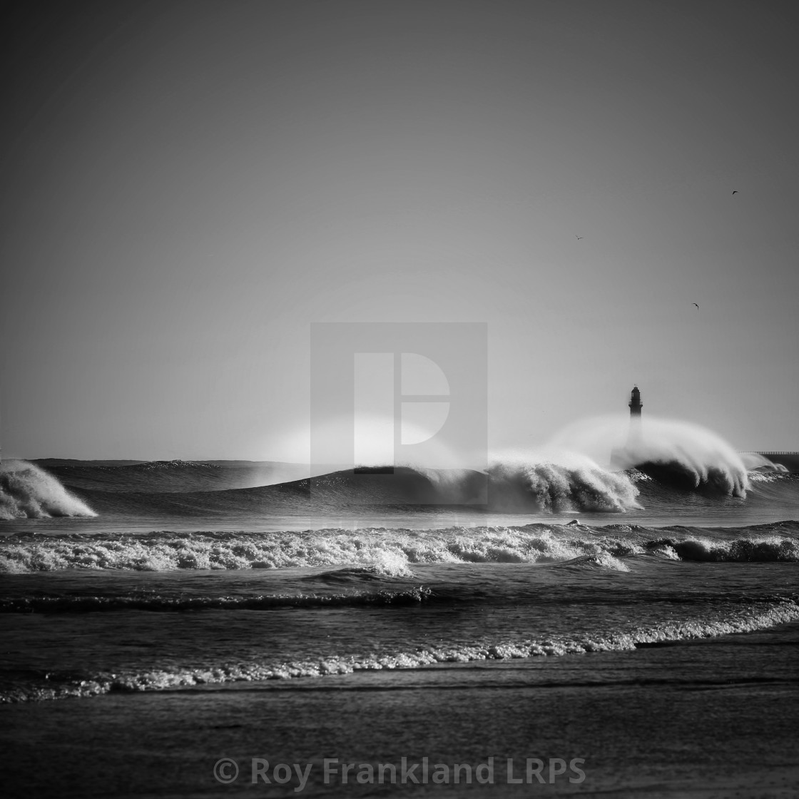"""Big waves at Roker"" stock image"