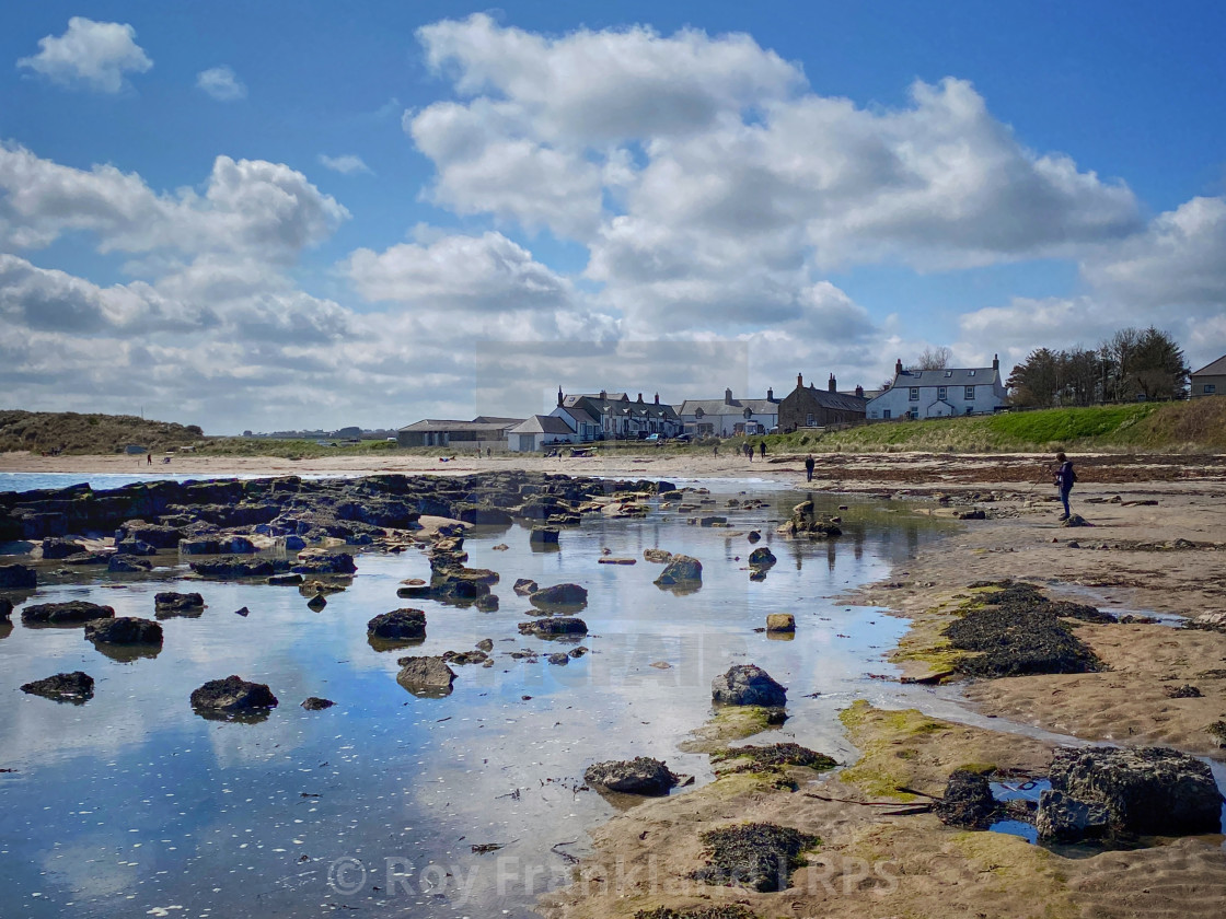 """""""Low Newton-by-the-Sea, colour"""" stock image"""