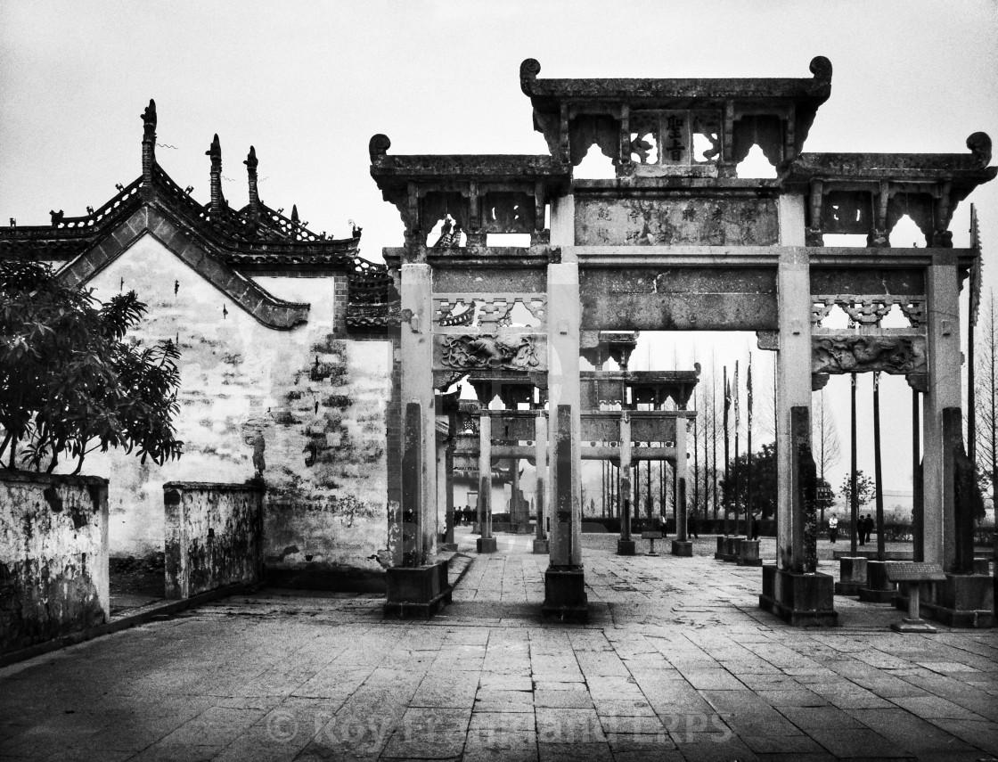 """""""Ancient Chinese Gates"""" stock image"""