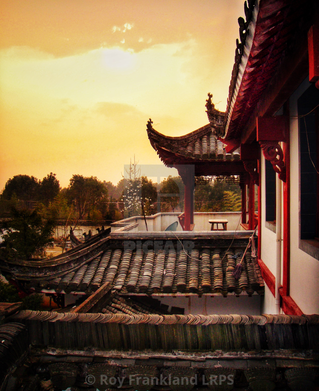 """""""Ancient Chinese rooftops"""" stock image"""