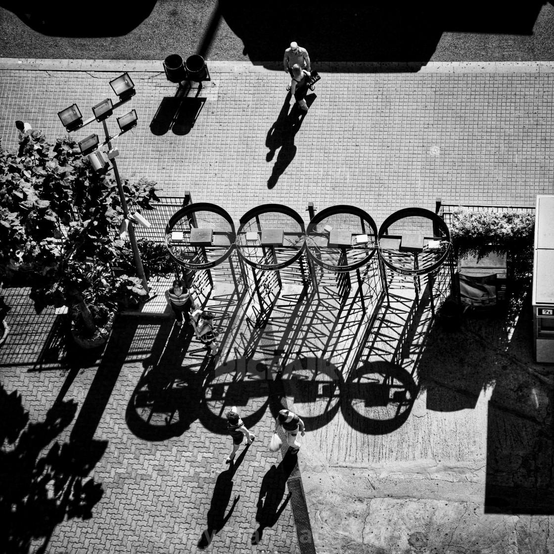 """""""Looking down at shadows."""" stock image"""